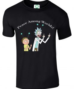 New Rick And Morty Peace Among Worlds Comedy Science Fiction Unisex T Shirt Top